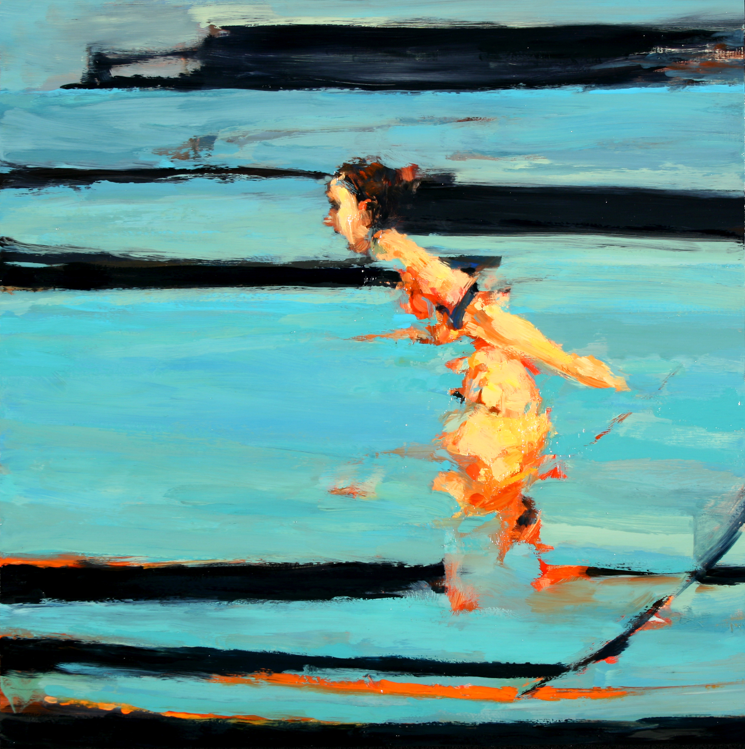 "Untitled, oil on board, 16"" x 16"" x 2"", 2008"