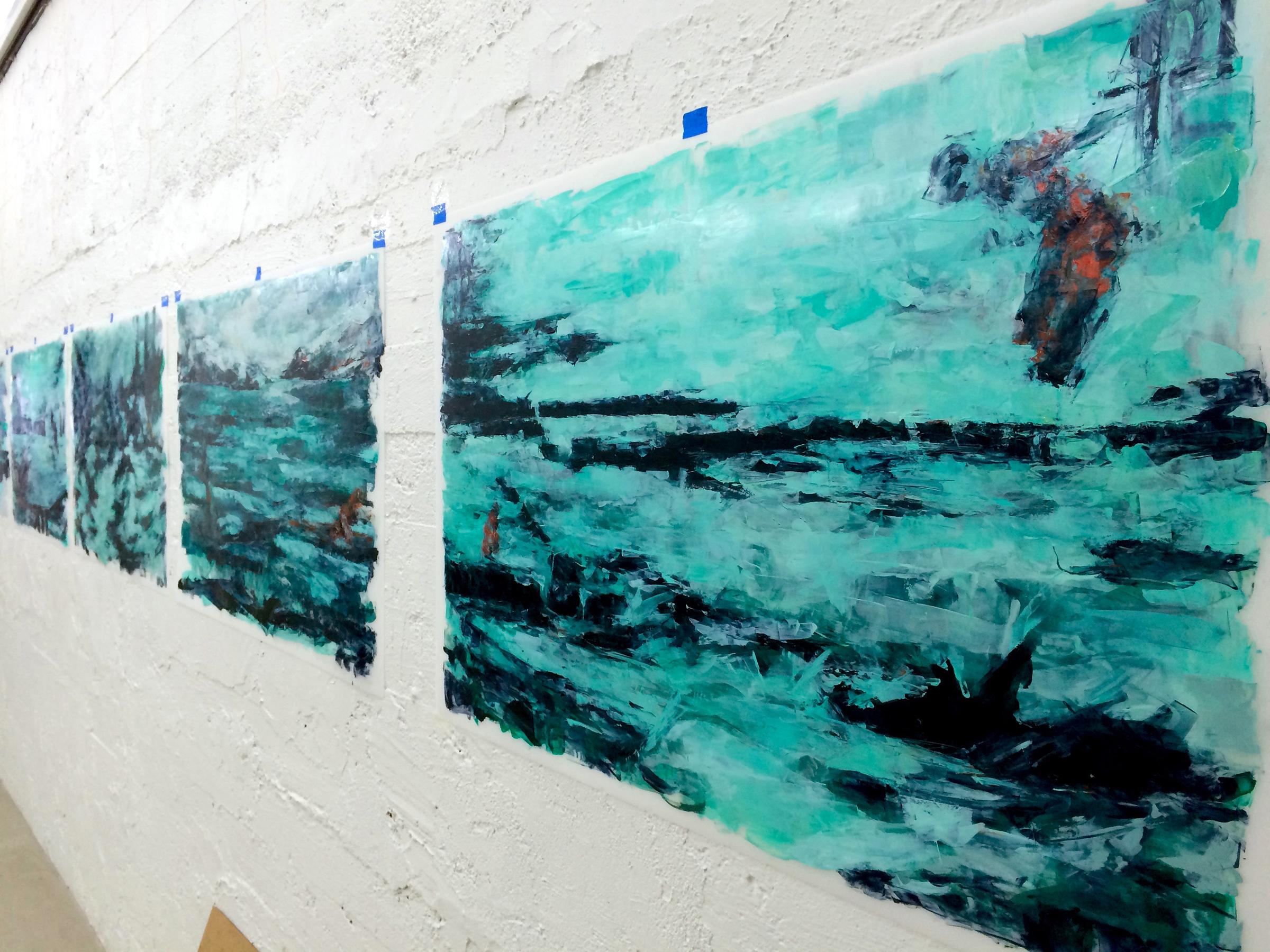 studio shot, Hvítahús Artist Residency, Hellisandur, Iceland (March 2016)