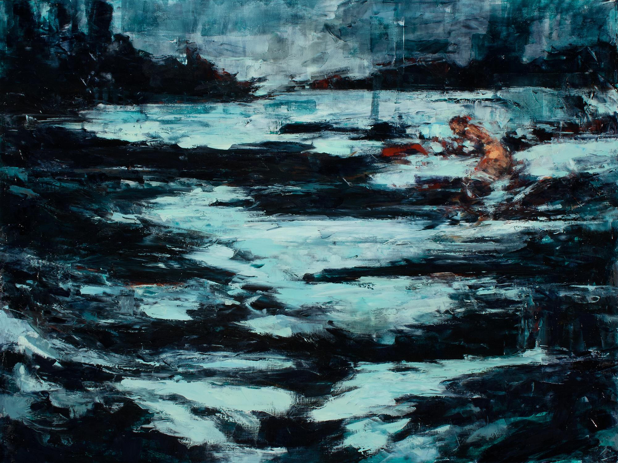 """'animal', oil on board, 18"""" x 24"""" x 2"""", 2016"""