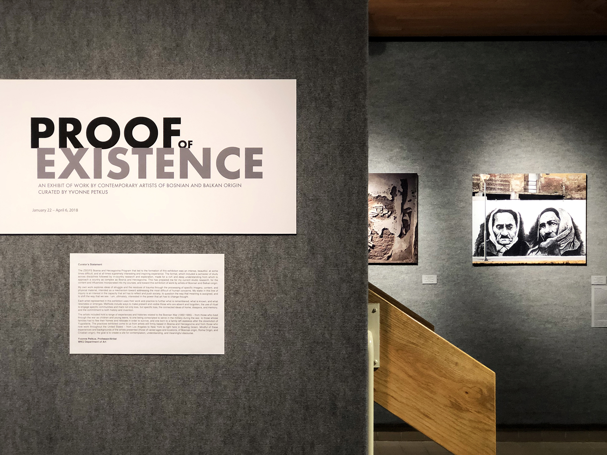 images of work by HAD Artist Collective in 'Proof of Existence' at Western Kentucky University – 'Serenity' (left), 'Silence' (right)