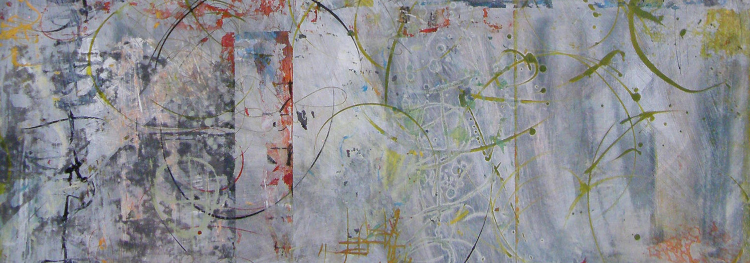 """Detail from  Instructions for Terraforming II , 48"""" x 40"""". Acrylic on Panel."""