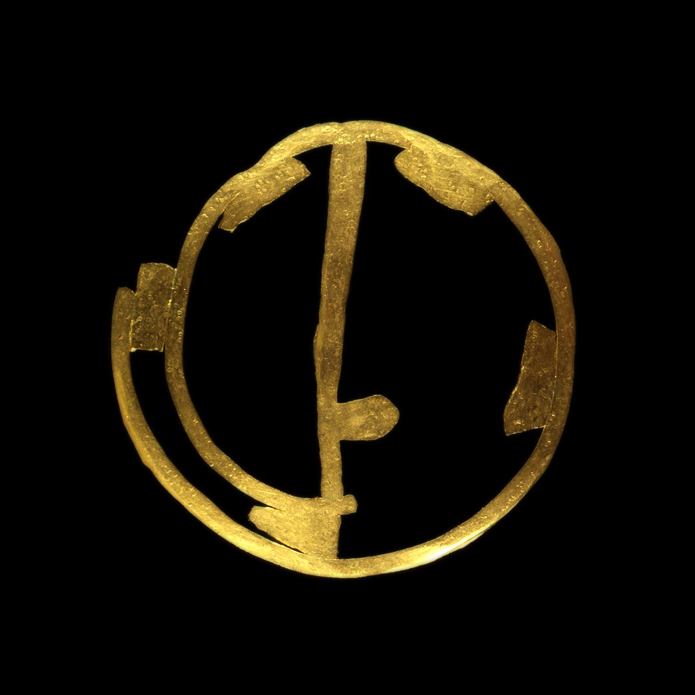 """1980s  24-karat gold, 3x3"""""""