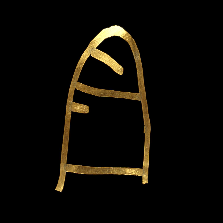 """1980s  24-karat gold, 2.5x4"""""""