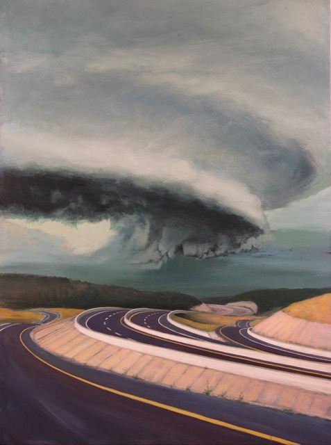 Pavement Landscape (Wall Cloud)