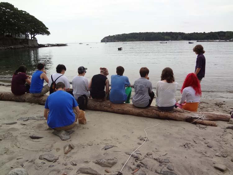 TYEF kids at the beach