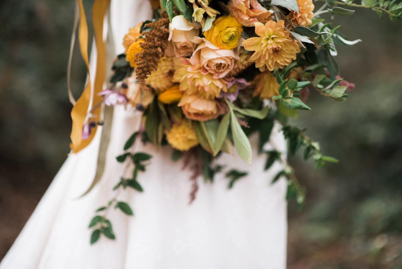 orange florals san francisco wedding photographer detail