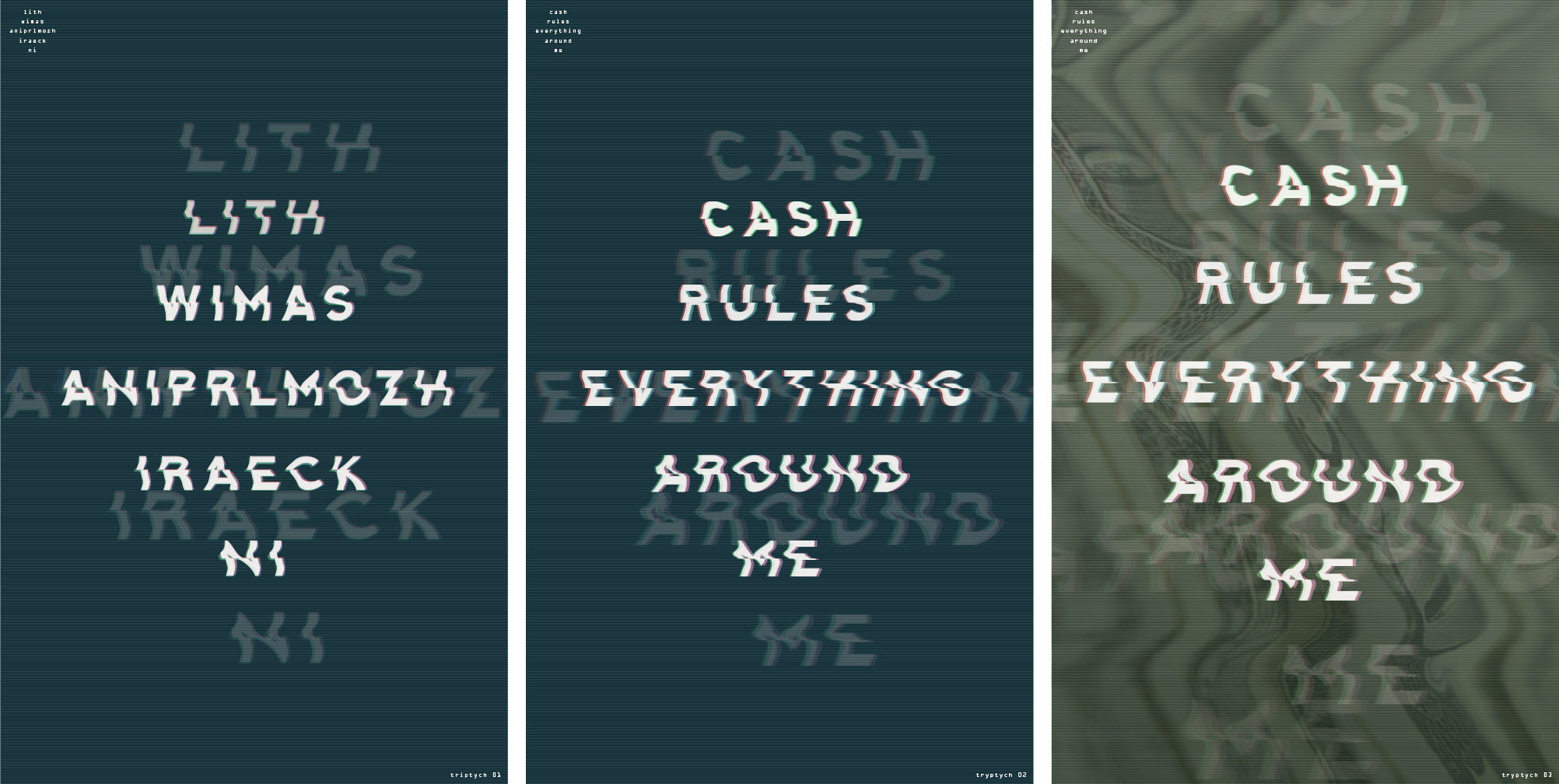 "From Derek Price, showing the full process with slight revisions to bring ""cash"" visual references into the final piece"