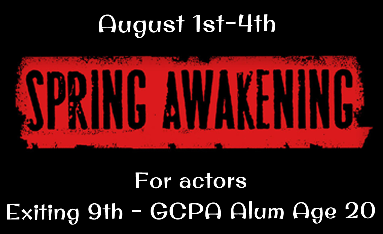 Auditions March 2nd-3rd!