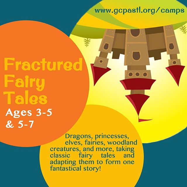 Check out one of our new summer camp additions - Fractured Fairy Tales! And now offered to the preschool age group as well! This week will take all of your favorite fairy tale characters and components and wrap them all up into one fantastical story! Make costumes, develop a storyline, and put on a magical performance for your family and friends! More details and registration online! #gcpacamps