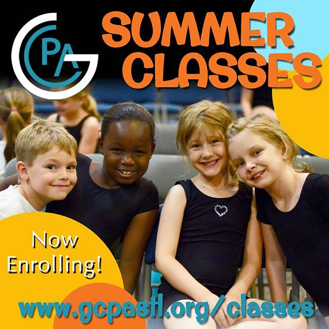 Summer Classes are now enrolling! We're excited to offer some of our popular Wednesday night classes again including Acting, Dance, Voice, and the popular Choreography Styles! We've also added a special Monday night lineup with an all new class, Musical Theatre Creators, where students work to create their own original mini-musical! Options for Ages 5-18, registration open now! Link in bio! #gcpaclasses
