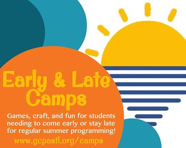 Did you know GCPA offers an early and late option for all of our summer camps? We know everyone's schedule is different, and we don't want that to keep you from all the fun! Early camp begins at 8am and late camp runs til 5:30pm every day! Enroll with your chosen summer camps and you're all set! Link in bio!