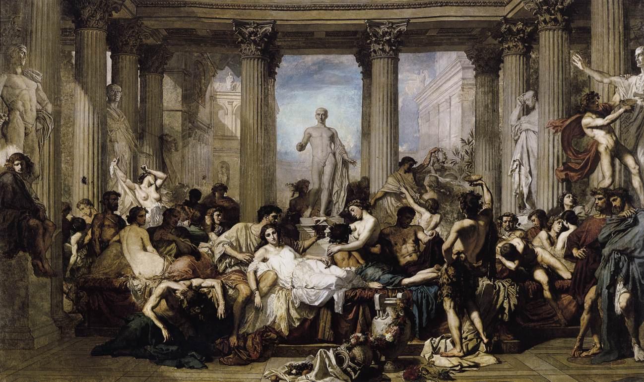 Romanos de la Decadencia por Thomas Couture