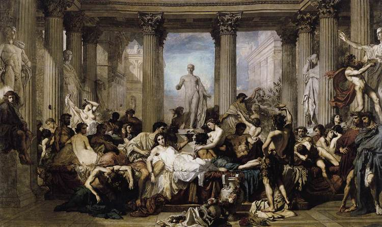 """Romans of the Decadence"" - Thomas Couture"