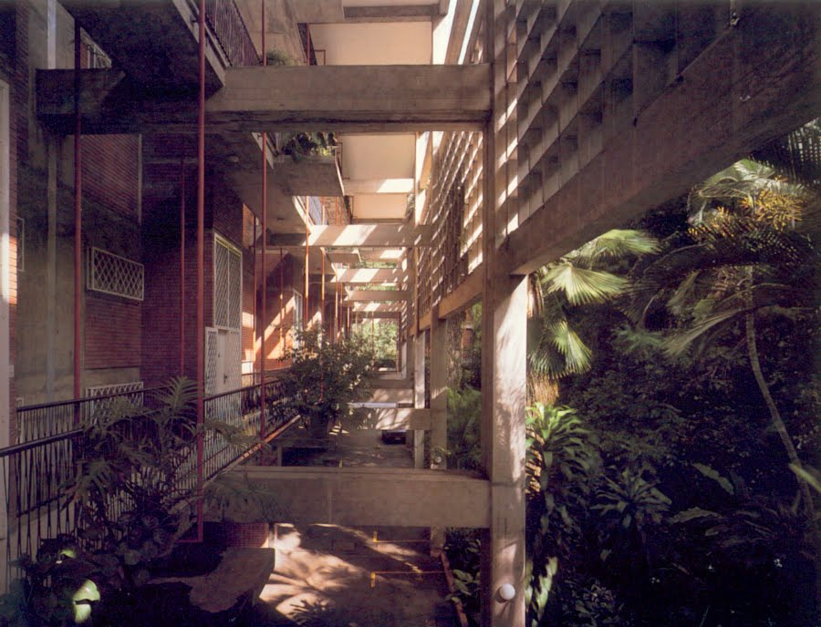 Altolar Building's tropical hallways.