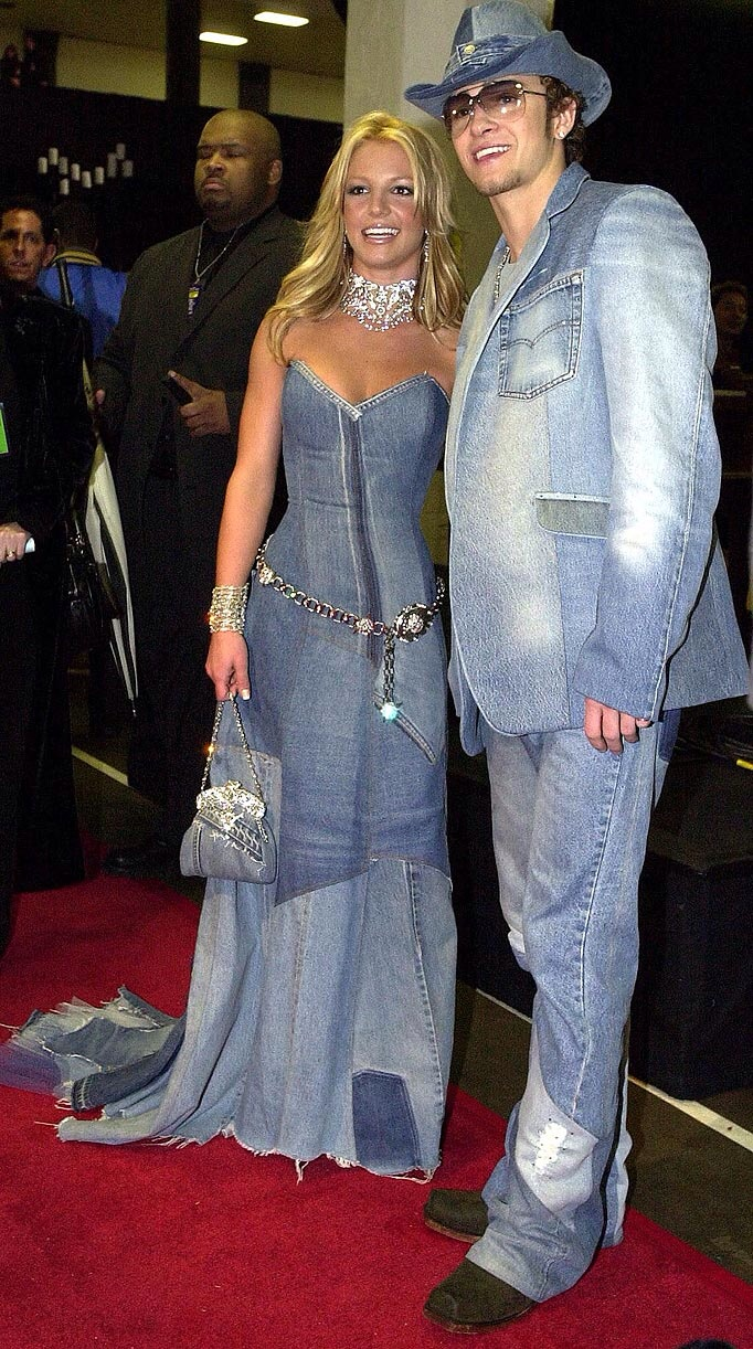 Britney Spears' 2001 AMAs jean dress