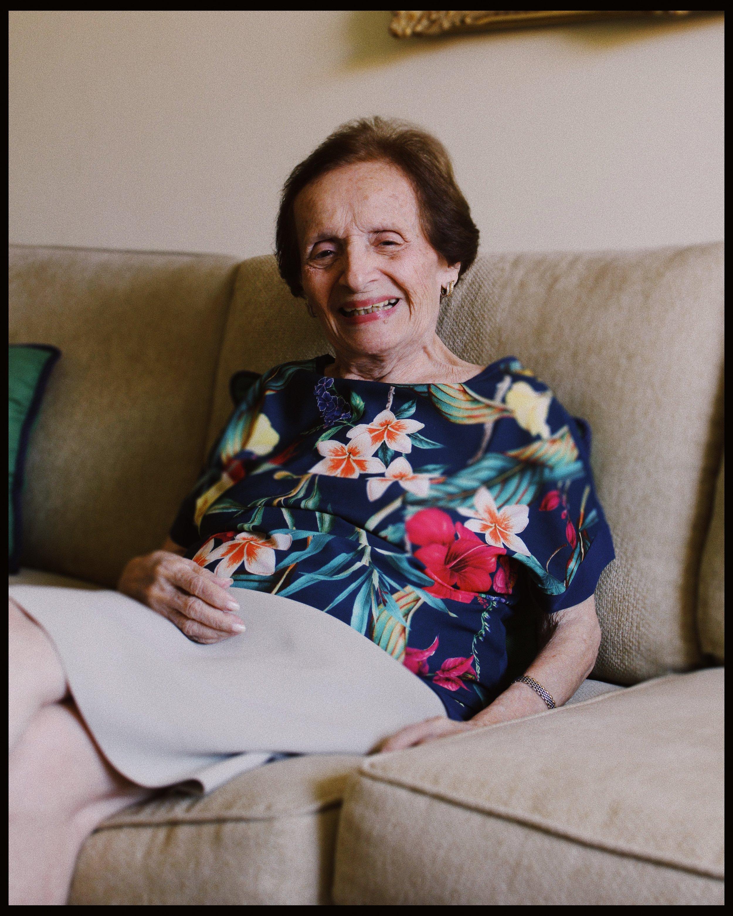 Alicia Saade de Dahdah retratada por Adrián Díaz