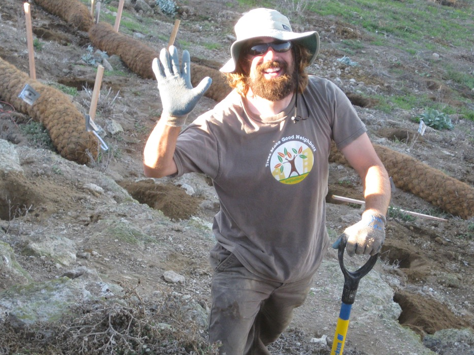 Mark Broomfield, one-time SBCC Environmental Horticulture student, now lead groundskeeper at SBCC.