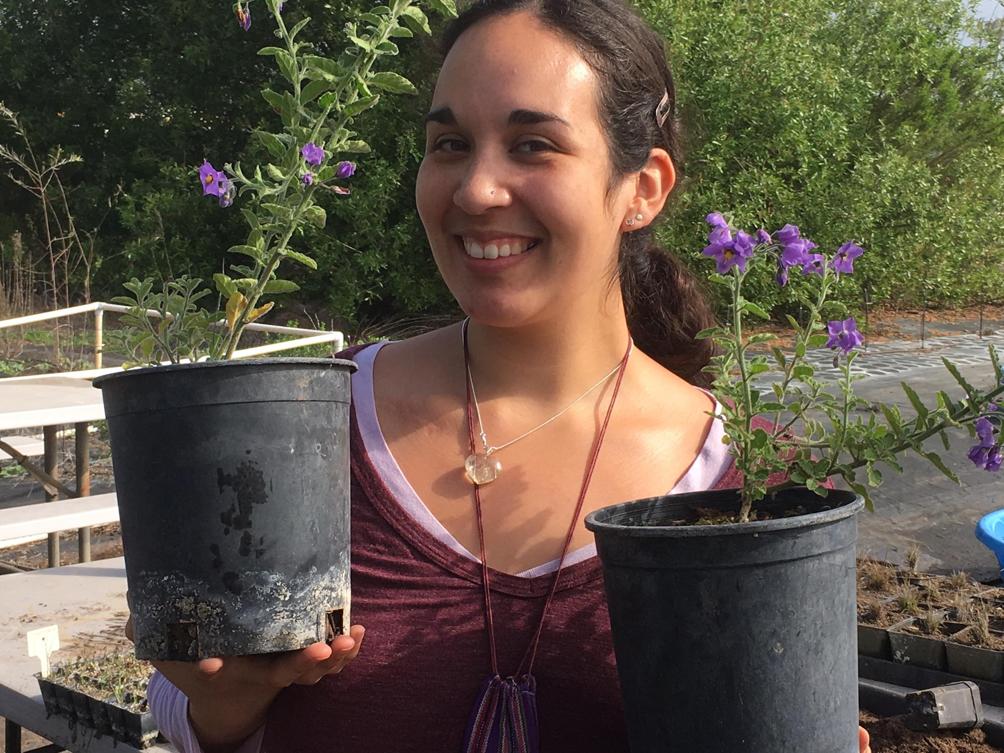 Alaina Hernandez, a recent graduate of Growing Solutions' intern program.