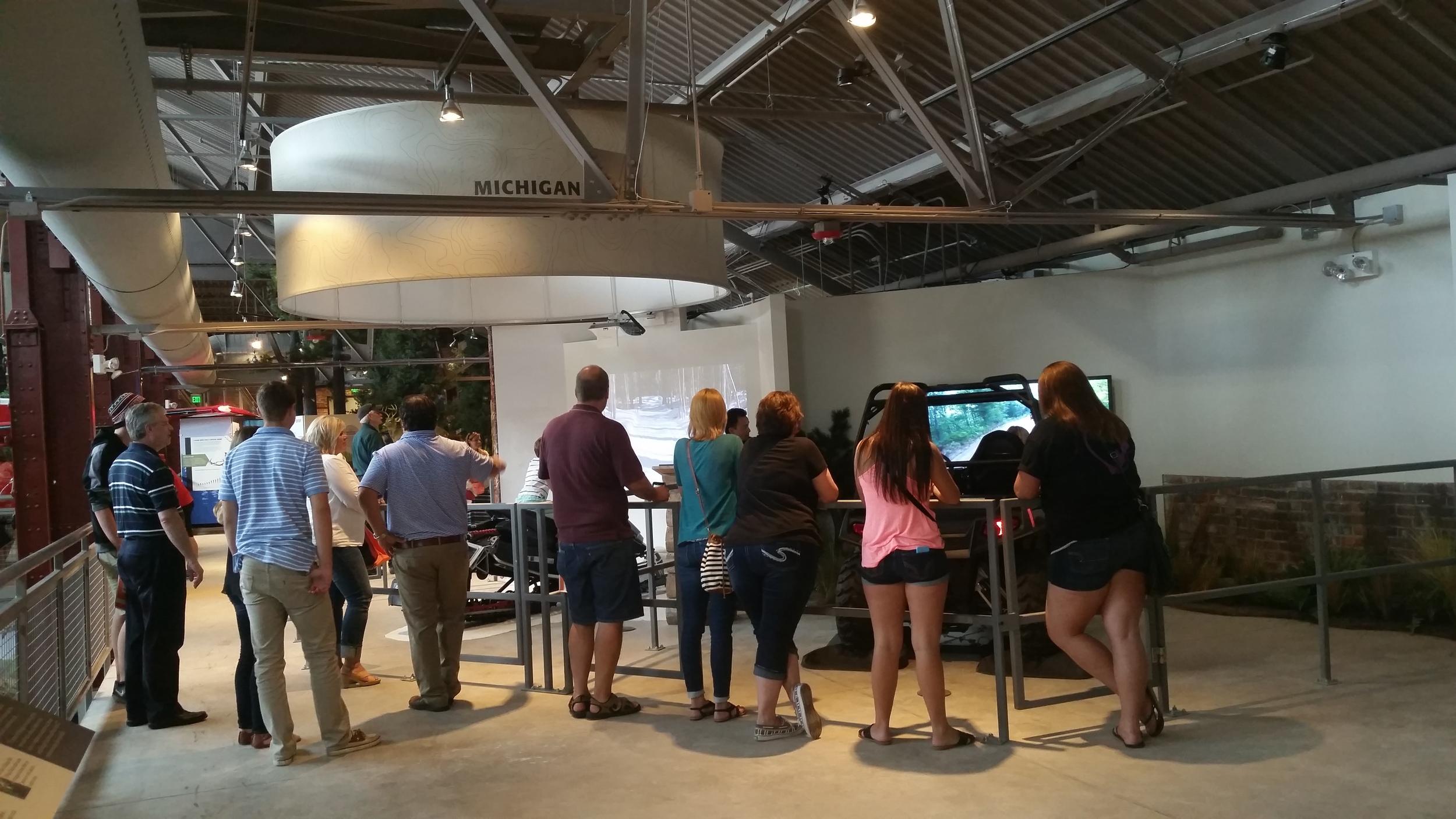 line at the simulators