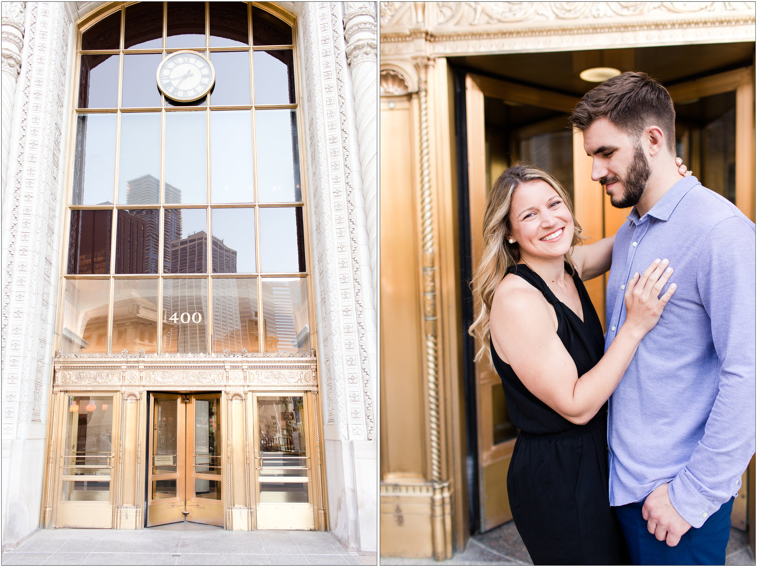 Chicago Wrigley Building Engagement Session