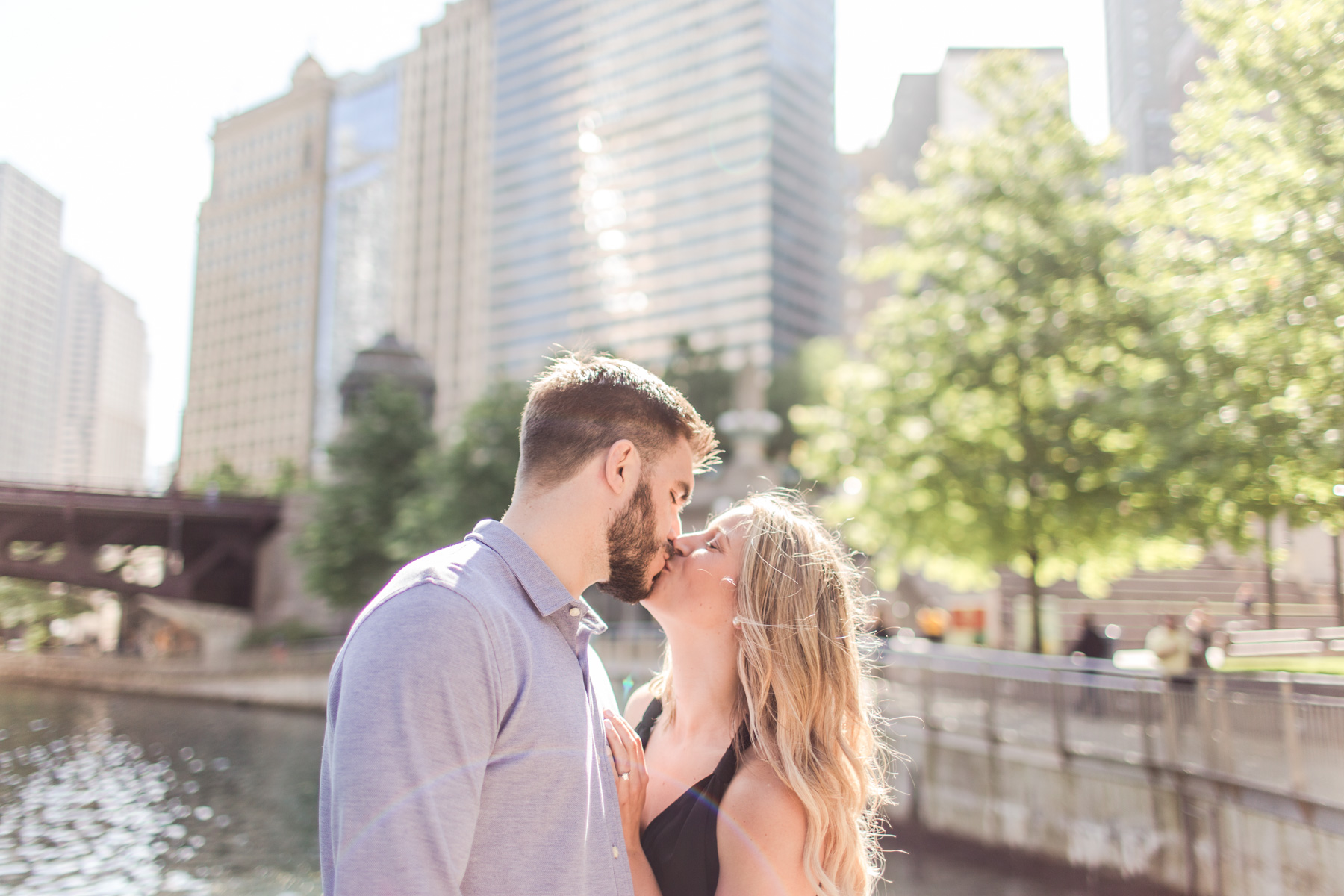 Chicago Riverwalk Engagement Session