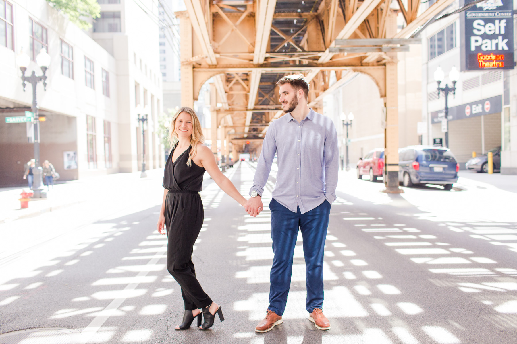 Chicago El Tracks Engagement Session