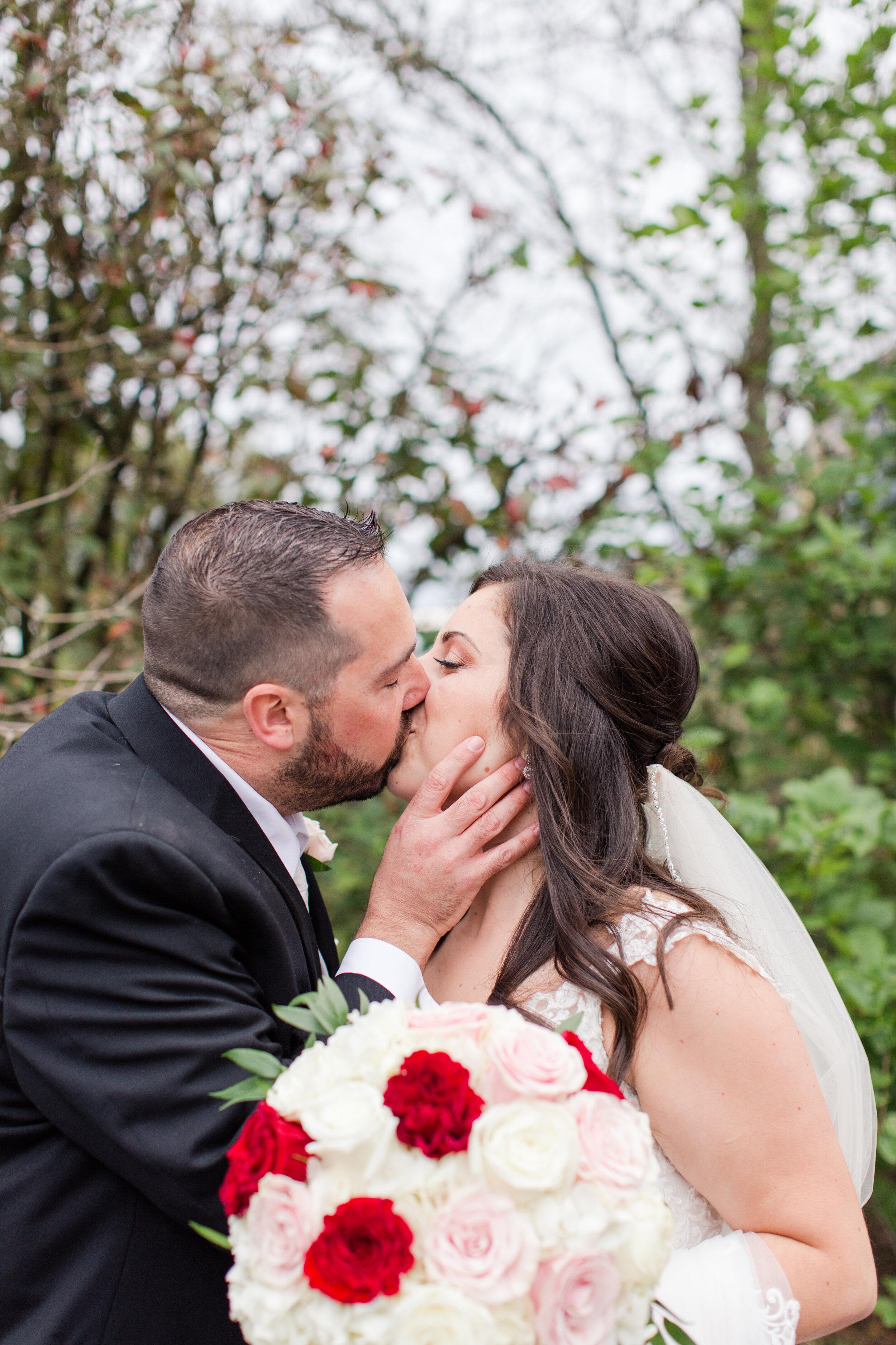 "A sweet, spontaneous ""just married"" kiss!!"
