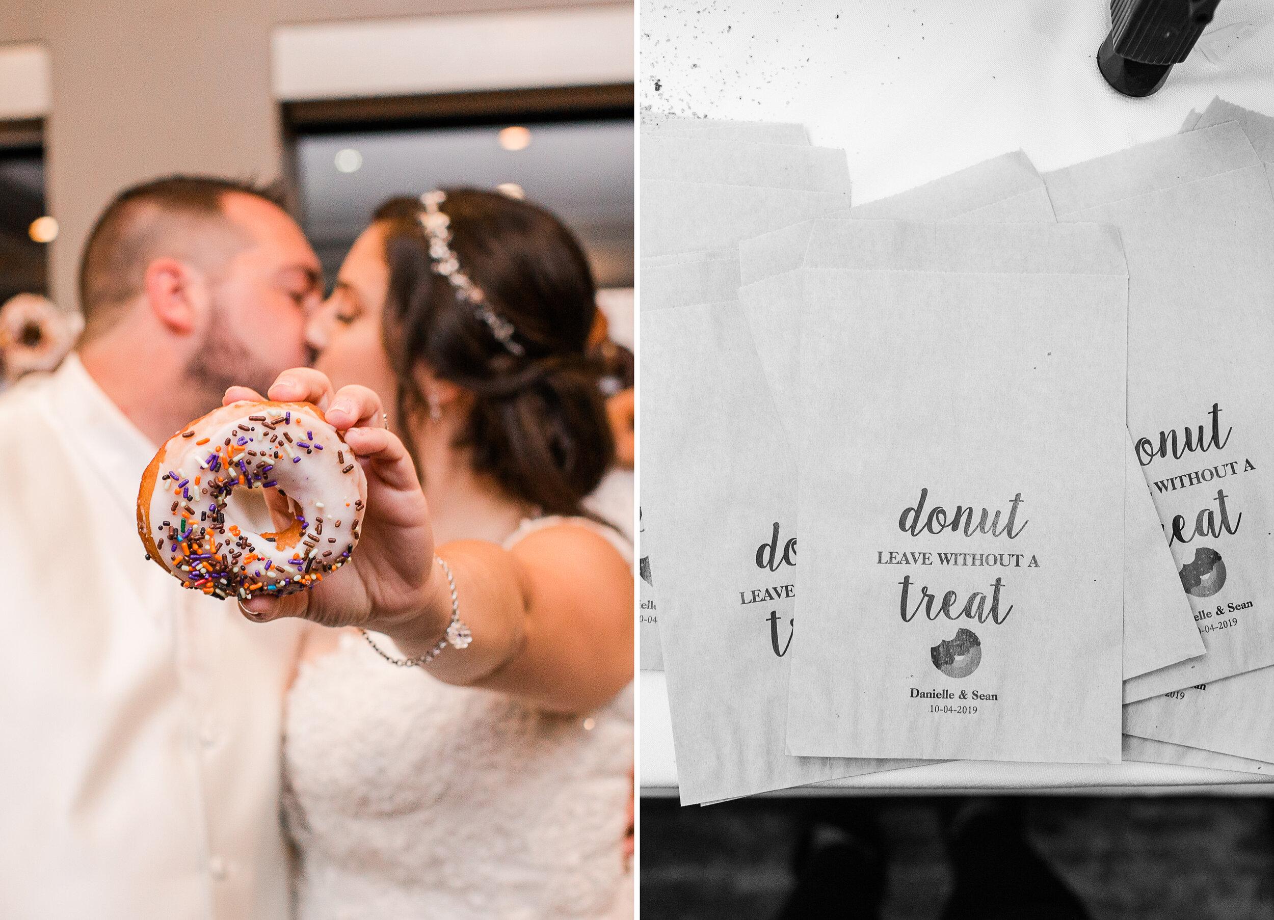 Gotta love donuts instead of wedding cake!!!