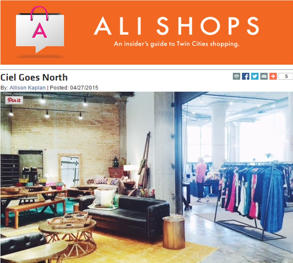 Ciel Moves in!  Ali Shops - Mpls. St. Paul Magazine