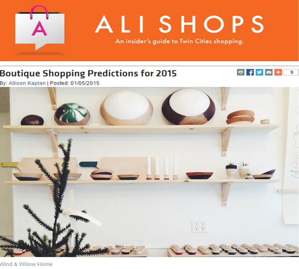 Boutique Shopping Predictions for 2015 - Allison Kaplan - Mpls. St. Paul Magazine