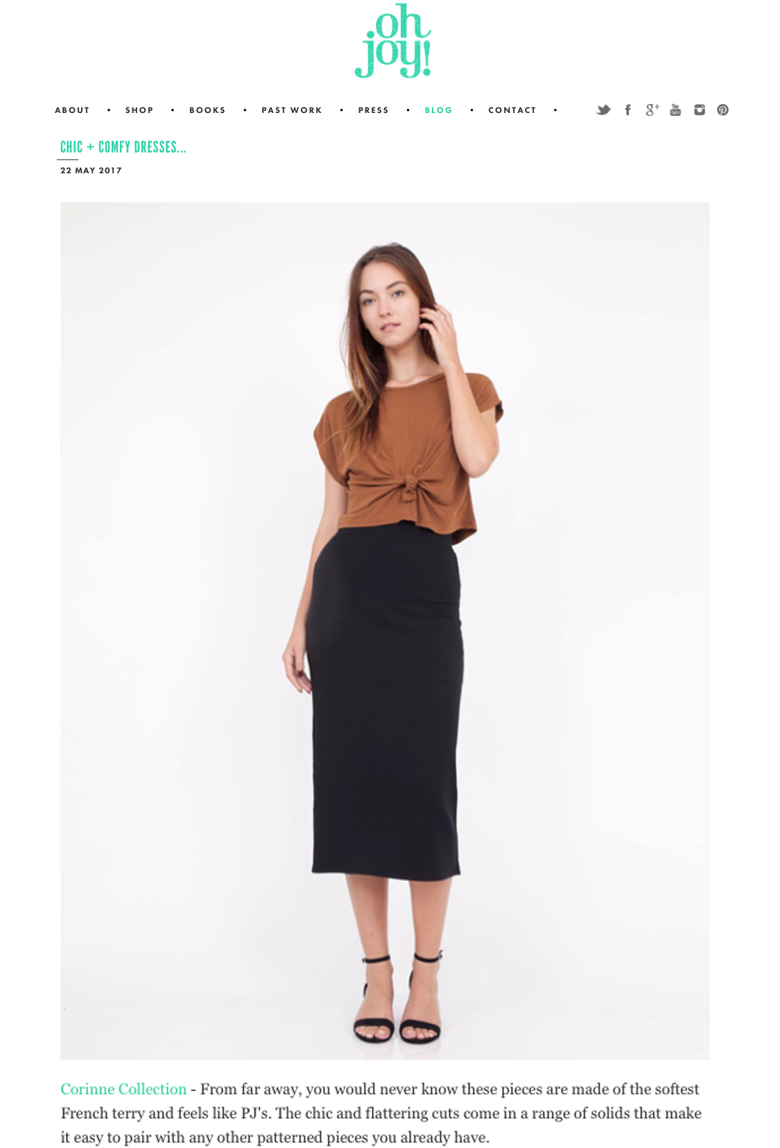 The Crop Top and Pencil Skirt featured on  Oh Joy!