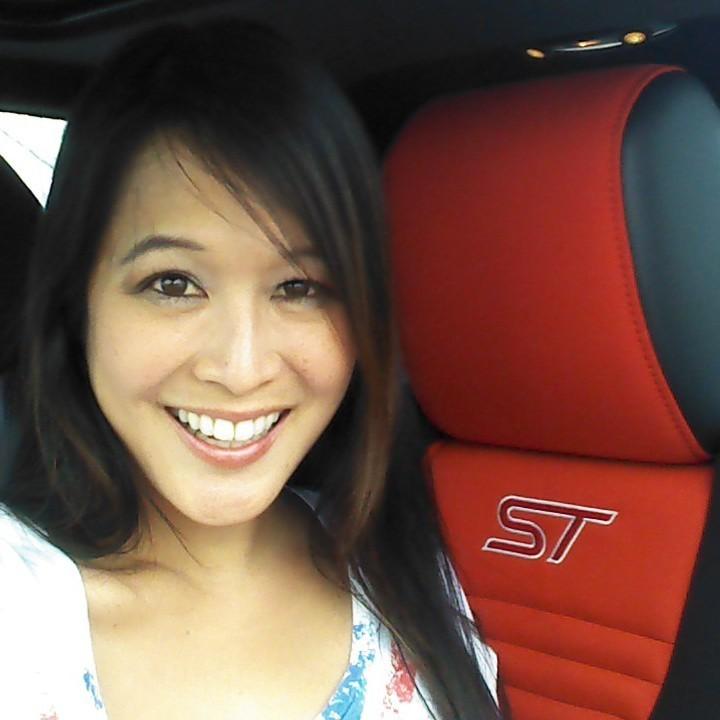 Verena in a Fiesta ST