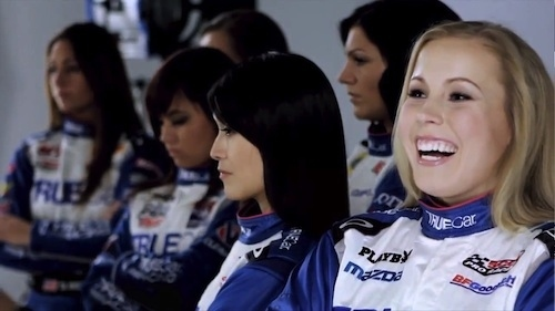 """Emilee Tominovich (right) and fellow members of TrueCar's """"Women Empowered"""" team."""