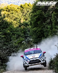 Verena & Leanne going for the win at New England Forest Rally