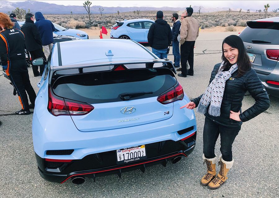 Trackside at the Hyundai Proving Grounds with the 2019 Veloster N