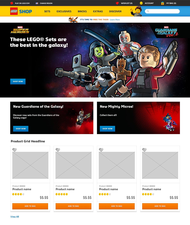 Homepage Mock-up (US)