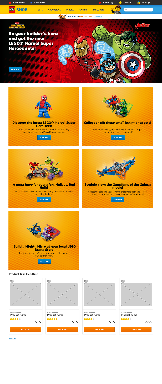 Homepage Mock-Up (Europe)