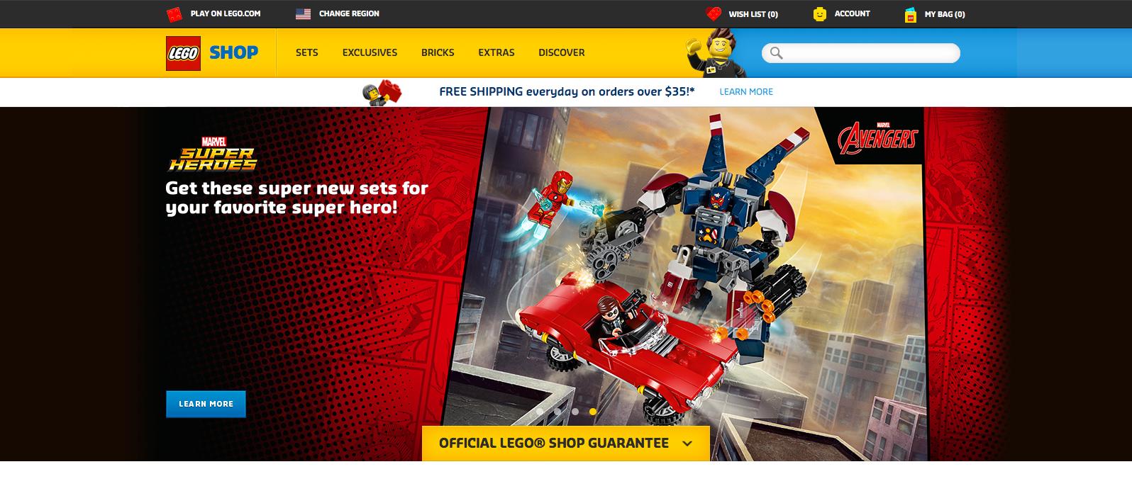 Homepage Header - Version 2 (Europe)