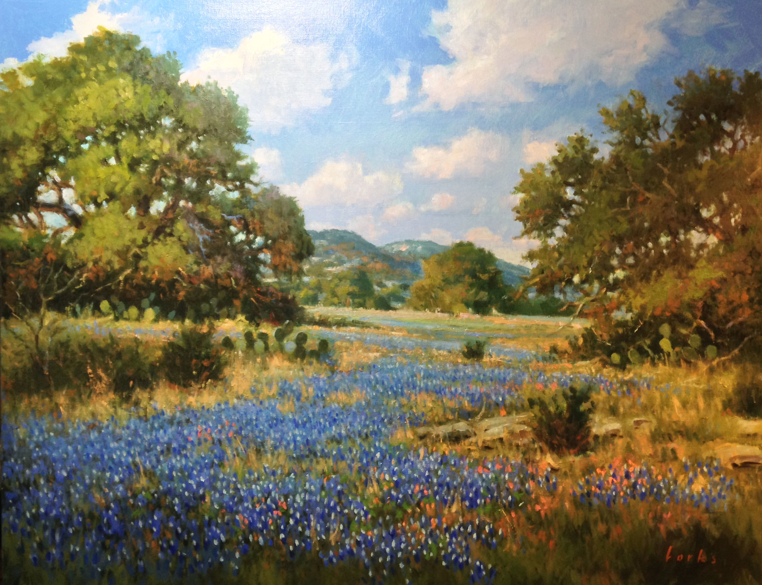 David Forks  Near Rock Springs  22X28  Oil on Canvas