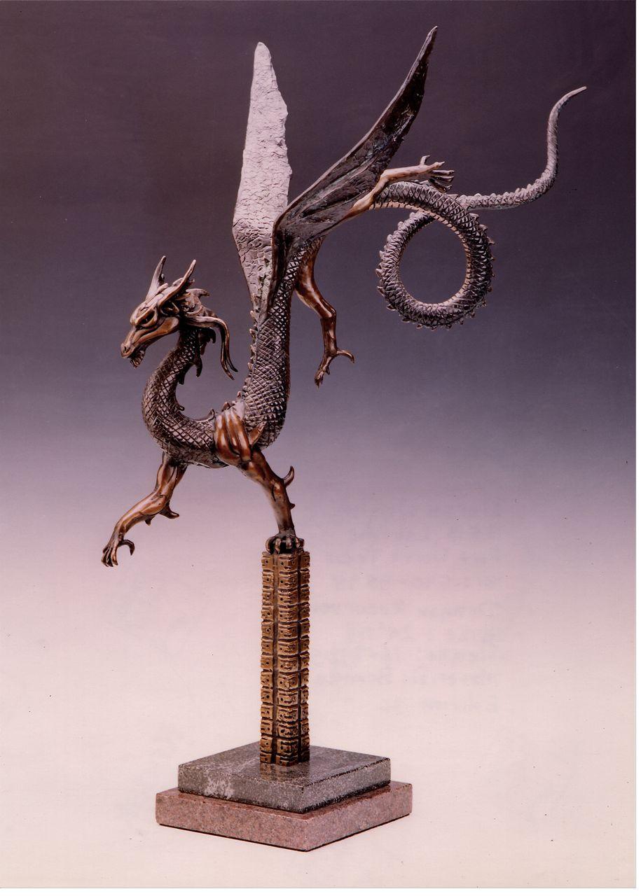 Deran Wright  Dragon Recurvent  26X18  Bronze