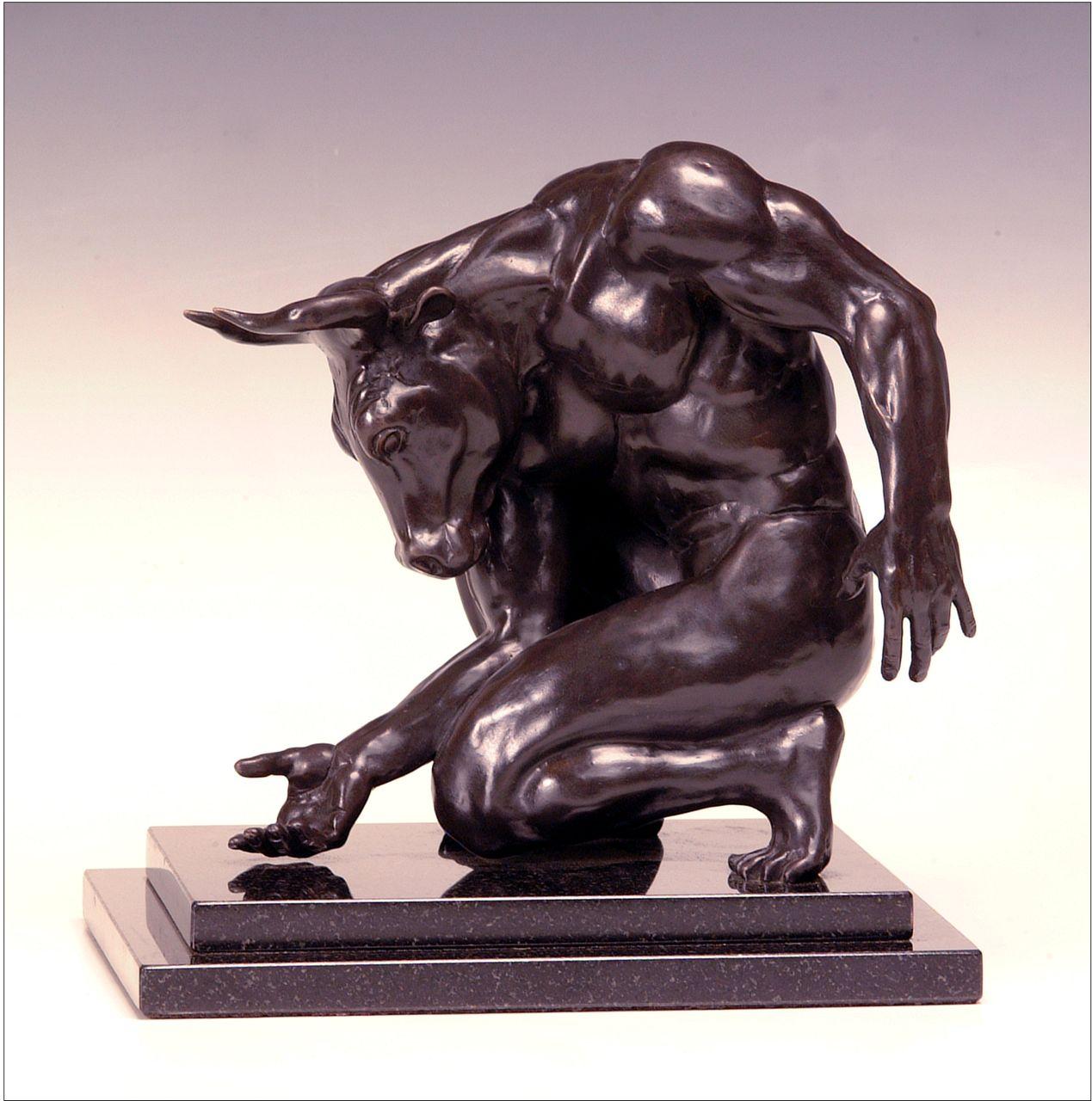 Deran Wright  Minotaur  11X7.5  Bronze