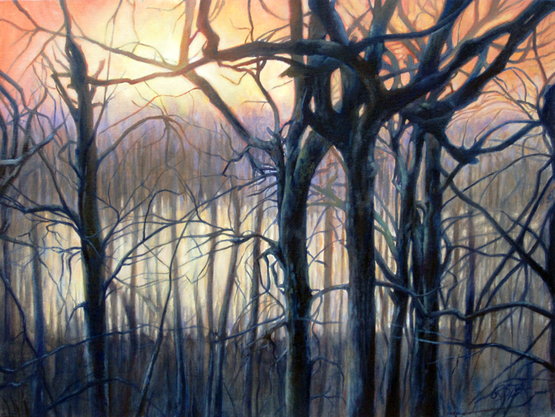 Rebecca Zook  Can't See The River For The Trees  18X24  Water-Soluble Oils on Canvas