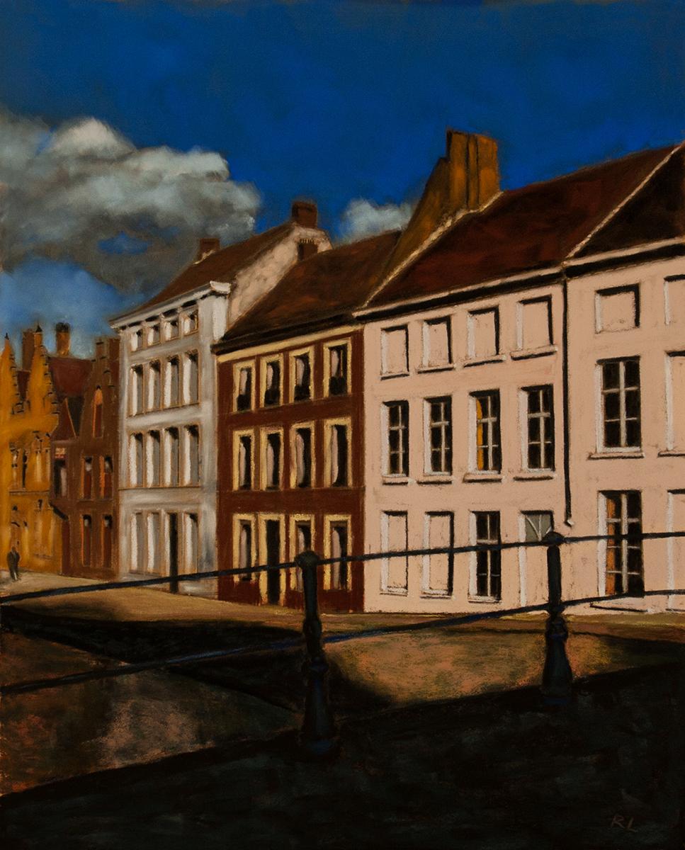 Richard Levine  Being In Bruges  16X20  Pastel