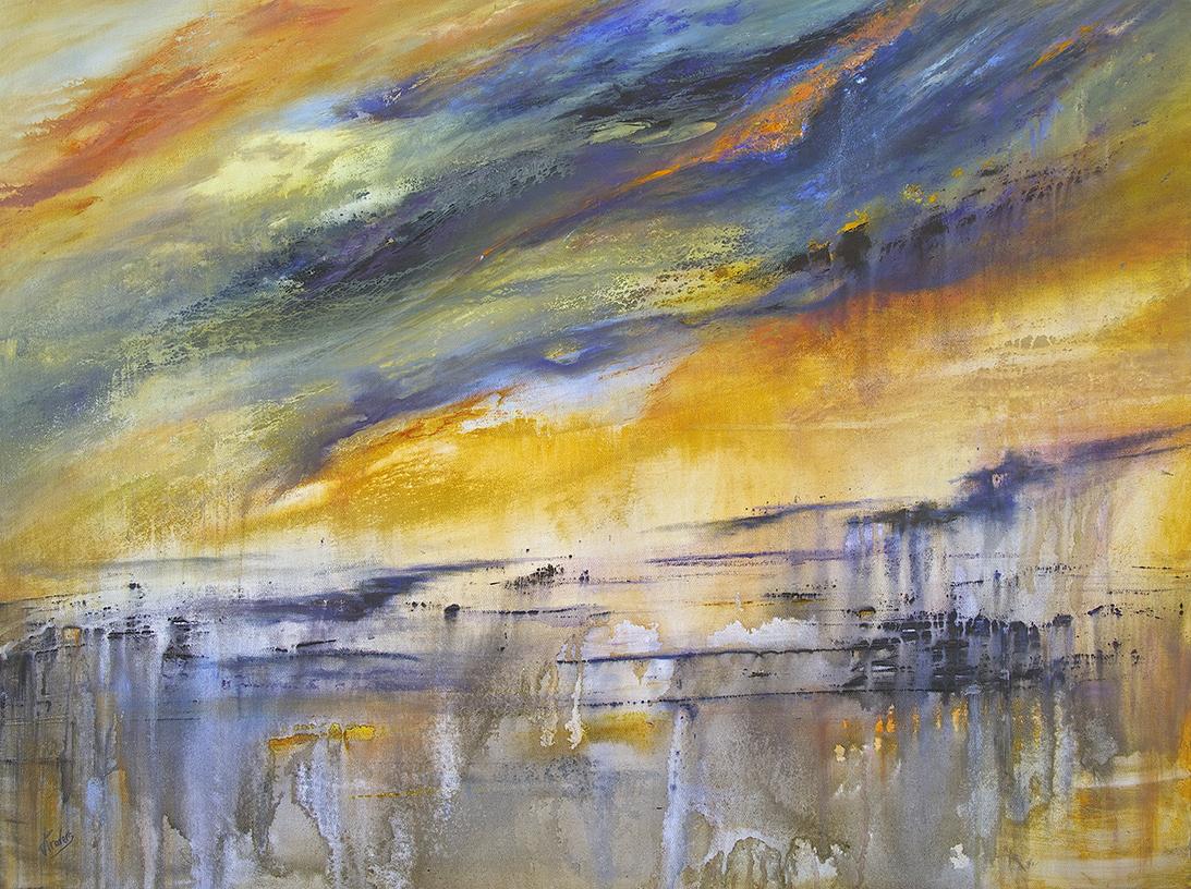 Valerie Travers  And The Sky Fell  40X30  Acrylic