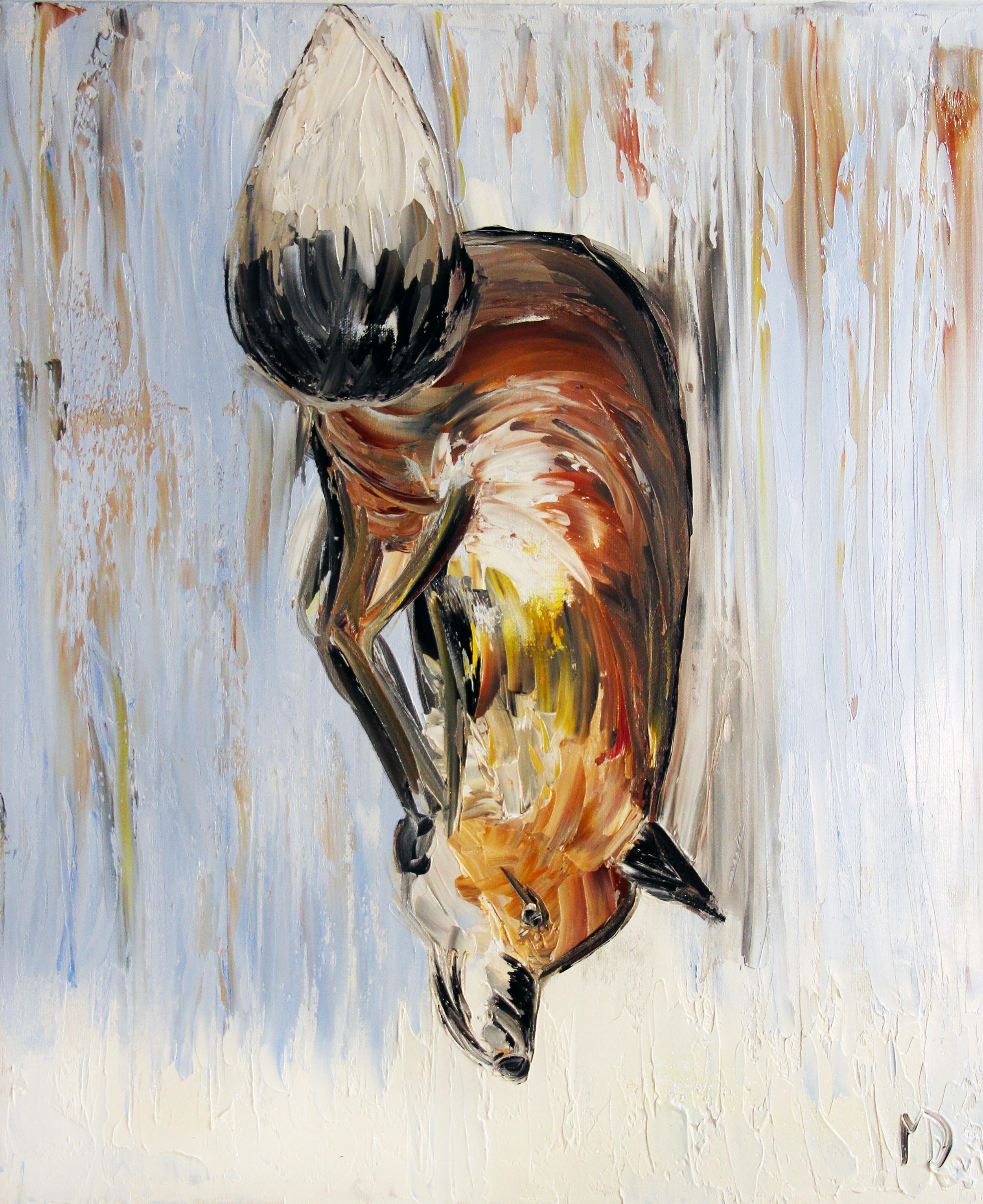 Melissa Davis Doron  What Does The Fox Say  24X20  Oil on Canvas