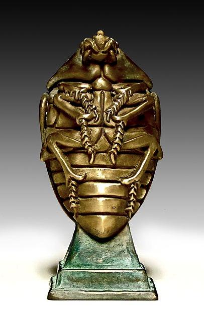 Deran Wright  Scarab Beetle  5X2.5X1.75  Bronze