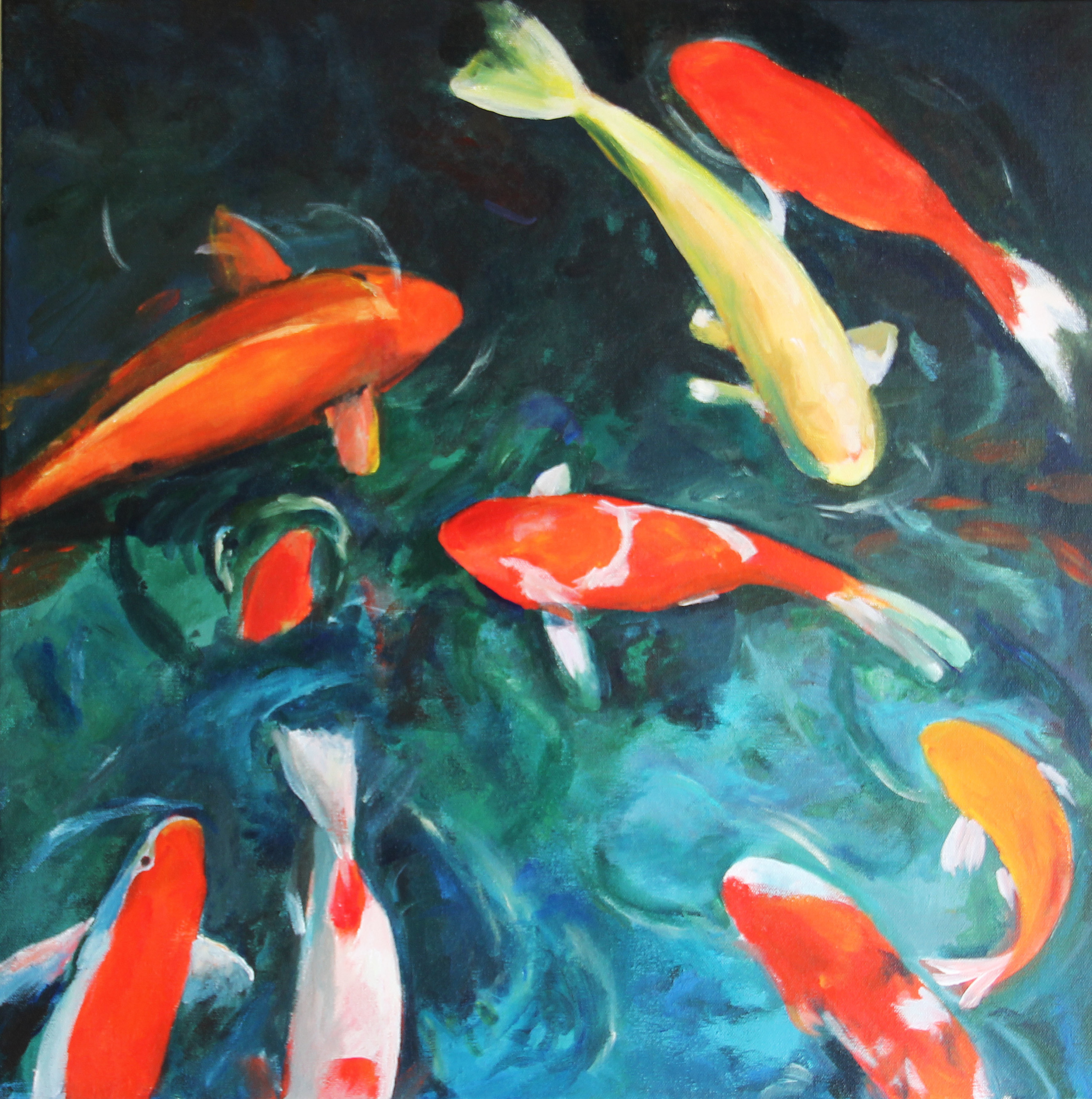 Helen Buck  Deep End of the Pool  24X24  Acrylic on Canvas