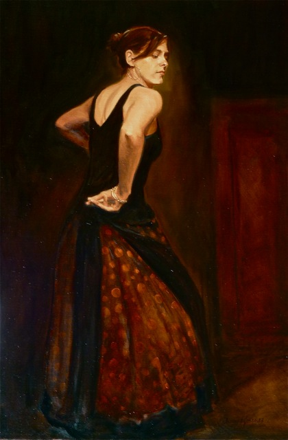 Anthony A. Gonzales  On the Dance Floor  36X24  Oil on Linen