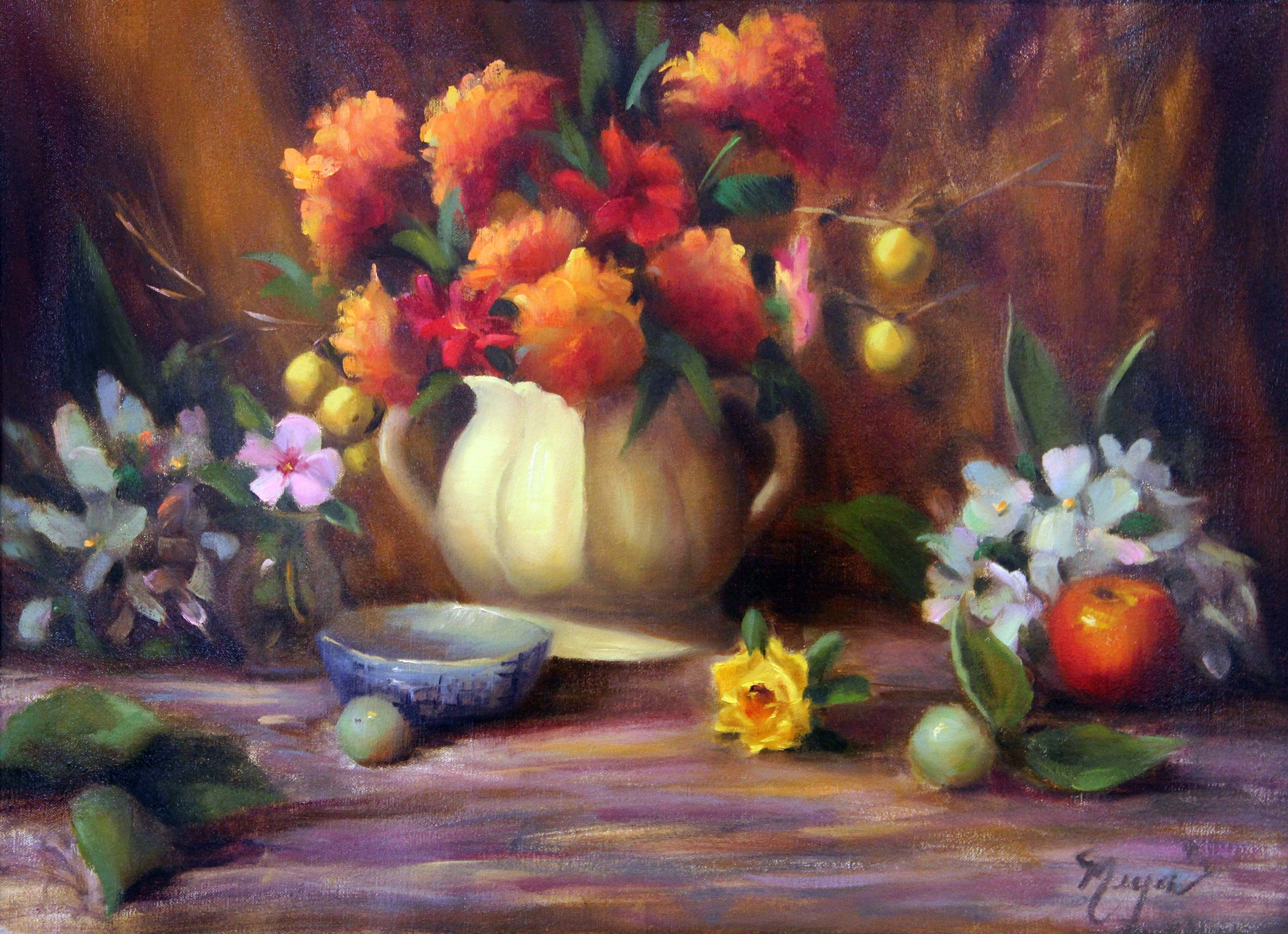 Pat Meyer  Anything But a Rose  23X17  Oil