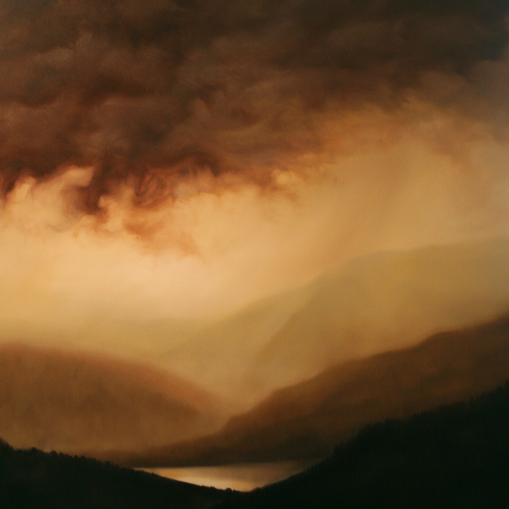 Dawn Waters Baker  The Valley of Light and Water  36X36  Oil